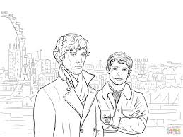 sherlock bbc coloring page free printable coloring pages