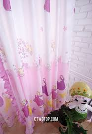 princess romantic kids cheap organic cute window curtains