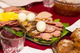 easter dishes traditional traditional hungarian easter food food photography stock photo