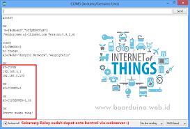 kontrol relay dengan arduino dan esp8266 web server boarduino