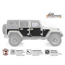 jeep black 4 door smittybilt mag armor magnetic trail skins 4 doors jk