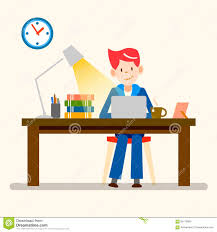 happy people freelance working from home design stock