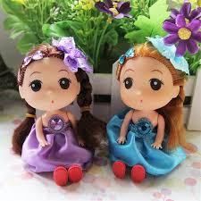 princess mini bowknot barbie dolls cute cartoon pendant style kids