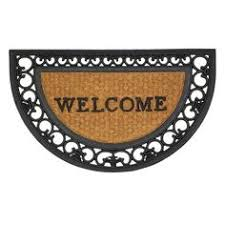 Half Moon Doormat Half Moon Entry Mat Stylish Rubber U0026 Coir Front Door Floor Mat