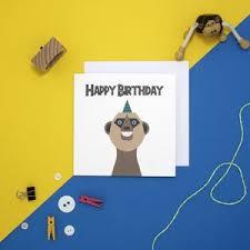 personalised meerkat birthday card by jollysmith