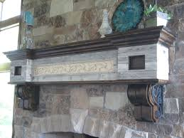 wrought iron fireplace mantel brackets ideas