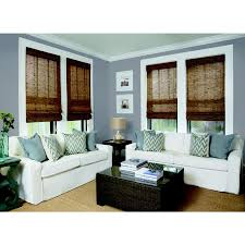 Bamboo Curtains For Windows Decorating Fascinating Emperor Roman Shades Lowes For Home Window