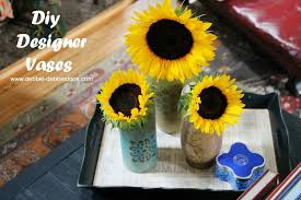 painted glass vases with chalky paint and stencils debbiedoos