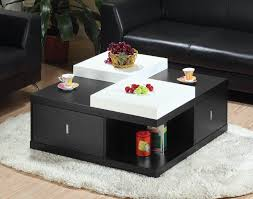 Square Living Room Table by Square Coffee Table With Storage More Than One Function In One