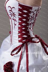 Our Wedding Day Sassy Red by Aliexpress Buy New Whiteivory And Red Wedding Dress Custom