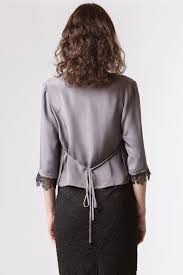 grey silk blouse dove grey silk wrap blouse 9to6