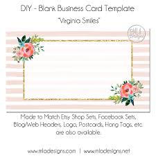floral business card template virginia smiles floral