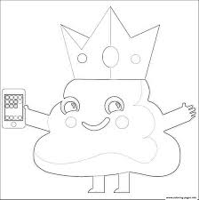 emoji king phone coloring pages printable