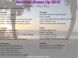 Dinner For The Week Ideas Summer Shape Up 2012 Week 3 Meals The Fitnessista