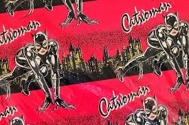 batman christmas wrapping paper thrift haul graphic design gasms everywhere calendars patches