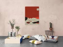 Toiles Contemporaines Design Tableau Grand Format Carré Toile Plexi Peinture Abstraite Rouge