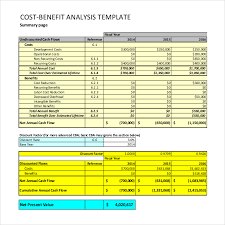 Cost Benefit Analysis Template Excel Cost Benefit Analysis Template 5 Free Pdf Word Documents