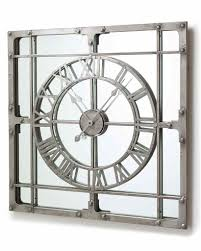 mirrordeco u2014 wall clock with mirror large h 77cm relojes