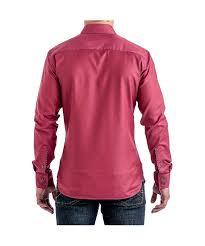 stone rose dark coral textured sport shirt in pink for men lyst