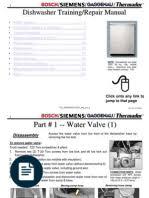 bosch dishwasher service training dishwasher water heating