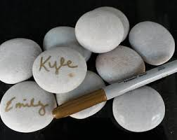 wedding signing stones guestbook etsy