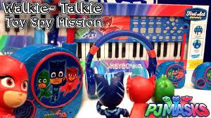 pj masks toys owlette u0027s spy walkie talkie u0026 gekko u0027s piano