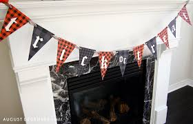 printable plaid halloween banner u2013 august december home