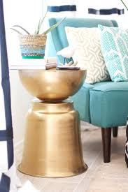 Diy Side Table Diy The West Elm Martini Side Table With A Bowl Planter U2014 Kristi