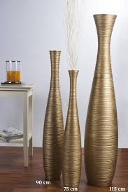 Wicker Floor Vase Tall Floor Vase 90 Cm Mango Wood Golden Online Günstig Kaufen