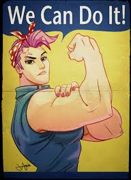 Rosie The Riveter Meme - we can do it zarya we can do it know your meme