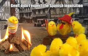 Spanish Inquisition Meme - no one expects the spanish inquisition by mitchellsy meme center