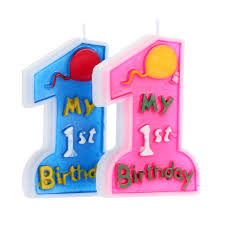 1st birthday candle 1pcs number one shape birthday party candles for the cake baby