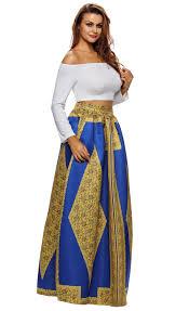 yellow blue african print maxi skirt stella dolls