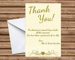 50th wedding anniversary ivory thank you cards print express