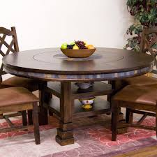 Dining Room Table With Lazy Susan Designs 1225dc Santa Fe 60 Table With Lazy Susan In