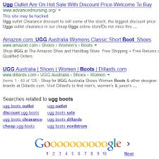 womens ugg boots used hacked websites used to get top 10 search result for ugg boots