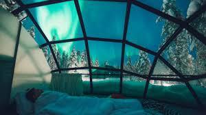 norway northern lights igloo stay in a glass igloo at kakslauttanen igloo hotel finland