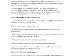 Sample Resume Objective Statement by Common Resume Objectives Template Billybullock Us