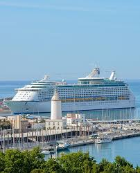 royal caribbean cruise ship in malaga spain beautiful cruise