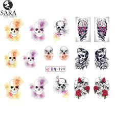sara nail salon 1 sheet watermark decals full cover tips nail art
