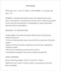 Cash Application Resume Cashier Resume Template U2013 16 Free Samples Examples Format