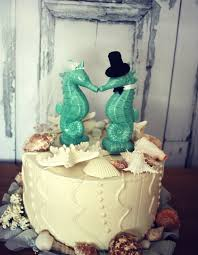 seahorse cake topper seahorse wedding cake topper aqua blue seahorse cake topper