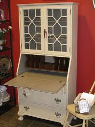 White Antique Bookcase by Sold U2013 Vintage Writing Bureau Bookcase A French Touch
