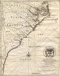 Wild Horses In America Map by John Lawson 1674 1711 A New Voyage To Carolina Containing The