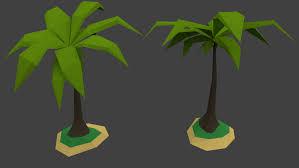 low poly palm tree island 3d model in tree 3dexport