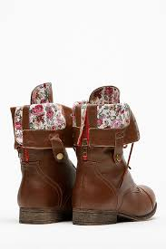 sweater lined foldover combat boots bamboo fold floral print combat boot cicihot boots catalog