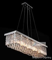 Rectangle Pendant Light 10 Lights L47 X W10 X H10 Clear Crystal Chandelier Rectangle