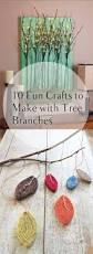 10 fun crafts to make with tree branches craft mobile craft and