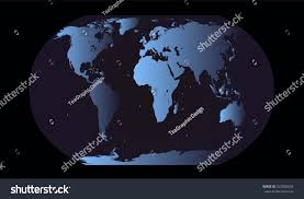 Planet Map World Map Planet Blue Color Vector Stock Vector 522580234