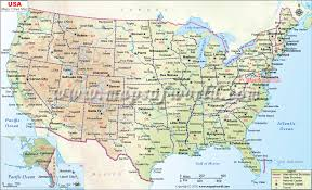 map of usa showing states and cities map of cities major tourist attractions maps